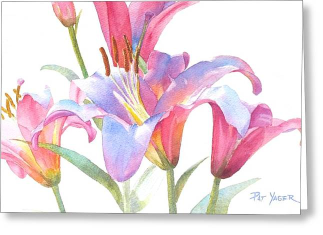 Space Mountain Lilies Greeting Card