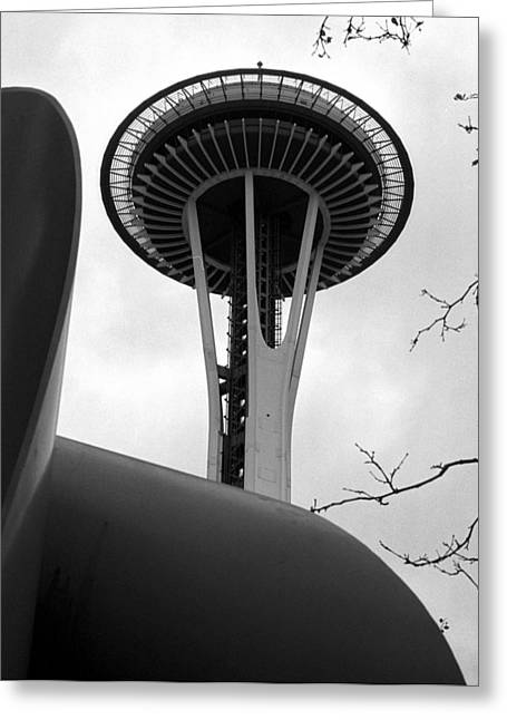 Space Needle Greeting Card by Kirt Tisdale
