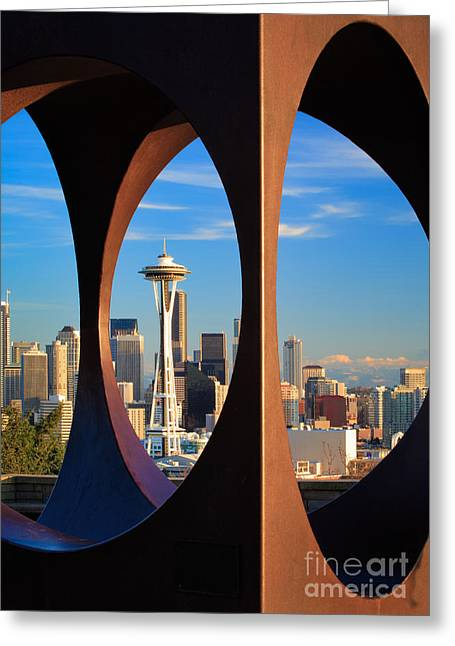 Space Needle View Greeting Card