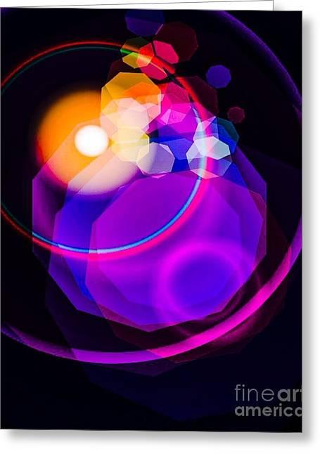 Space Orbit Greeting Card by Gayle Price Thomas