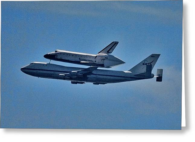 Space Shuttle Columbia Flies On 92112 Greeting Card