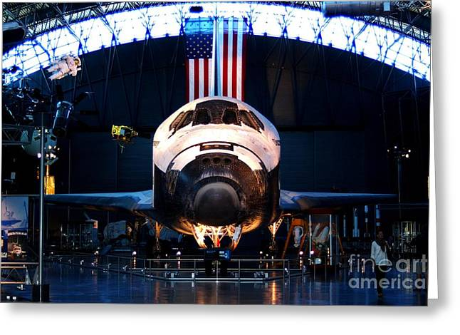 Space Shuttle Discovery Greeting Card by Patti Whitten