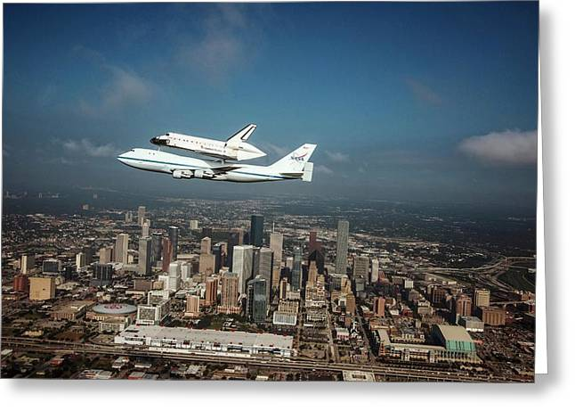 Space Shuttle Endeavour Piggyback Flight Greeting Card