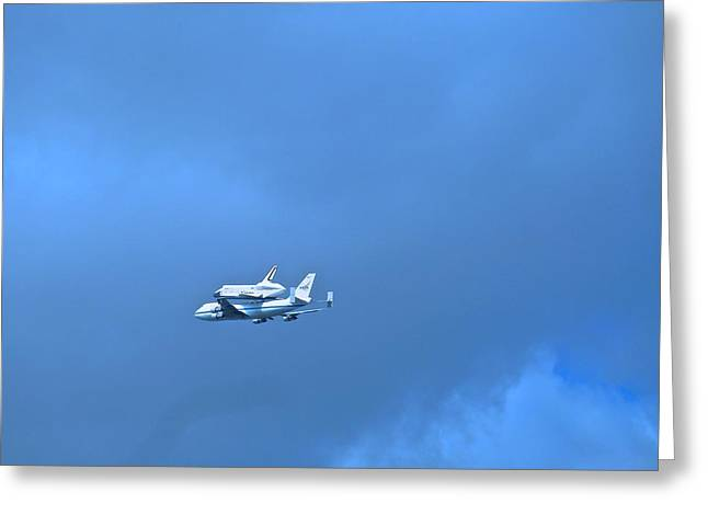 Space Shuttle Enterprise Greeting Card by Kenneth Summers