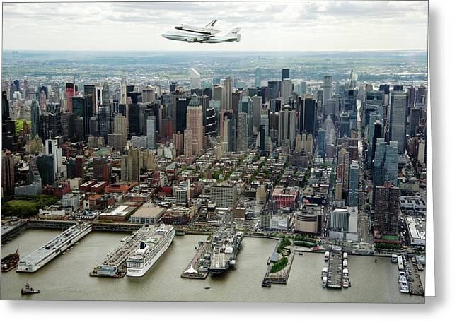 Space Shuttle Enterprise Piggyback Flight Greeting Card