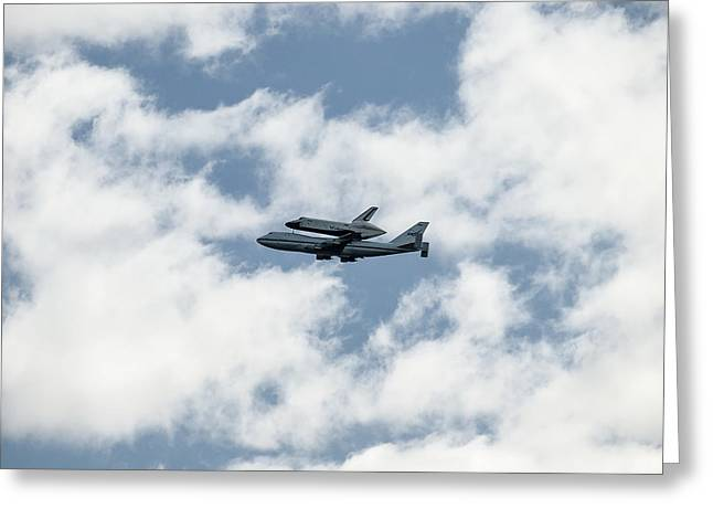 Space Shuttle Enterprise  Greeting Card by Wayne Gill