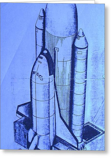 Space Shuttle Greeting Card by Eric  Schiabor
