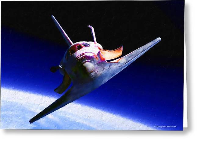 Space Shuttle Head On Greeting Card