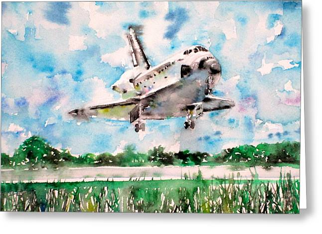 Space Shuttle Landing Greeting Card