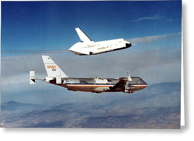 Space Shuttle Prototype Testing Greeting Card by Nasa