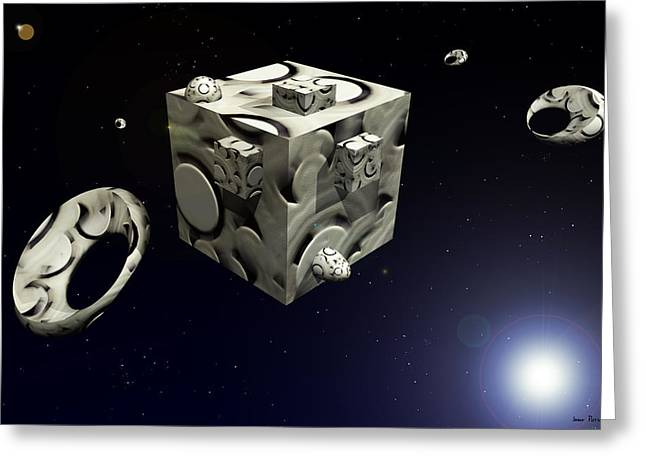 Space Station 4409 F 1 Greeting Card