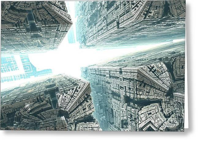 Space Travel Greeting Card by Bernard MICHEL