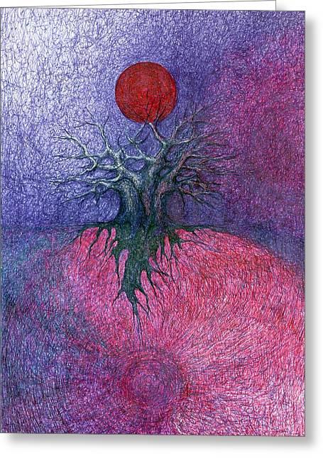 Space Tree Greeting Card
