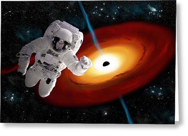 Space Walk No.15 Greeting Card