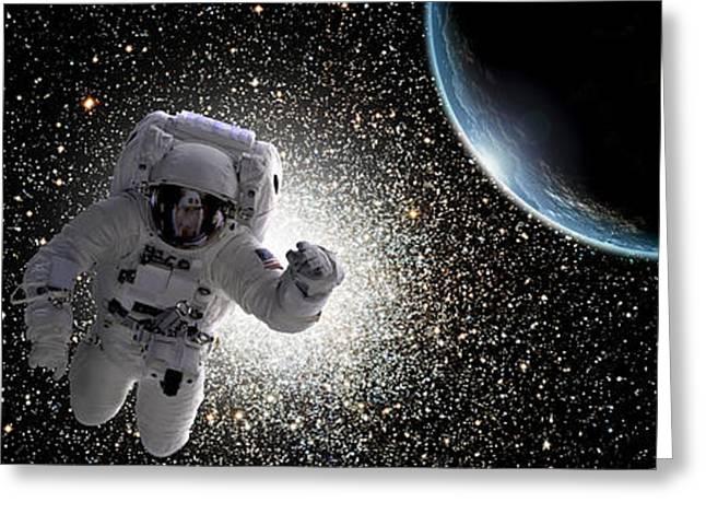 Space Walk No.7 Greeting Card