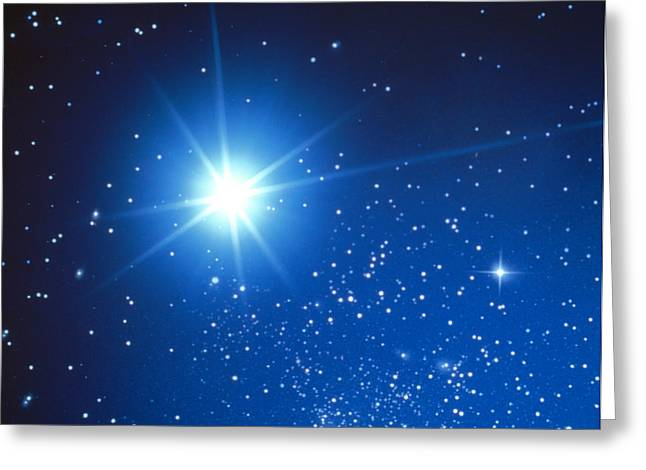 Space With Starburst Greeting Card by Panoramic Images
