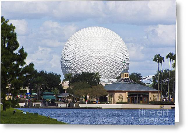 Spaceship Earth At Epcot Greeting Card