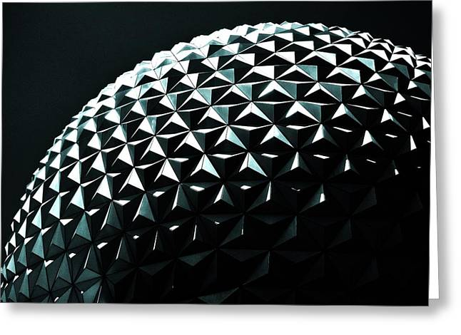 Spaceship Earth Greeting Card by Benjamin Yeager