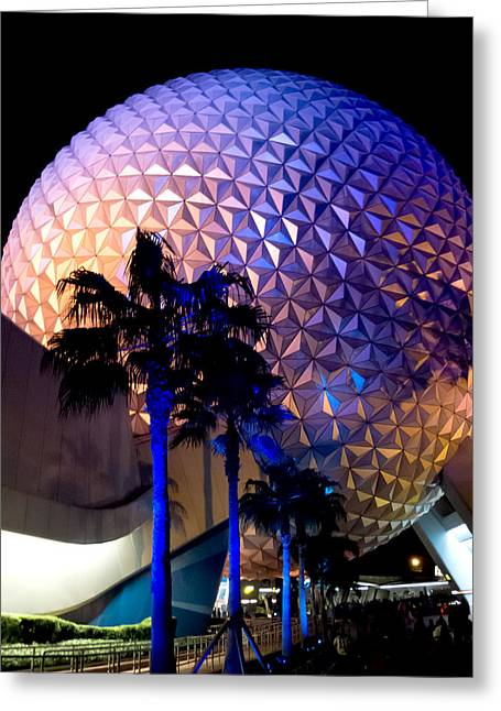 Spaceship Earth Greeting Card by Greg Fortier