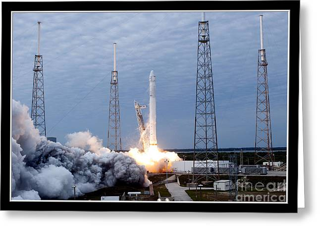 Spacex-2 Mission Launch Nasa Greeting Card