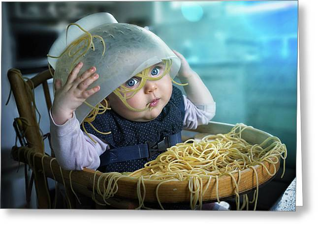 Spaghettitime Greeting Card by John Wilhelm