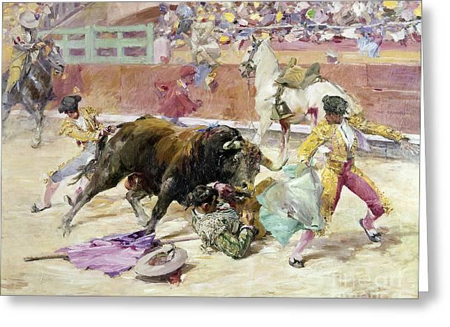 Spain - Bullfight C1900 Greeting Card by Granger