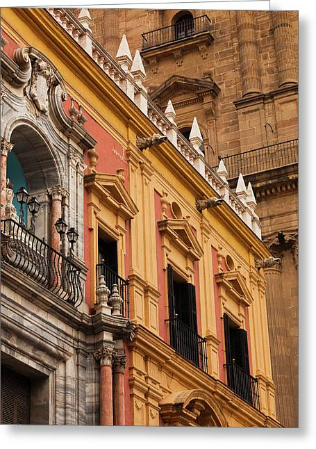 Spain, Andalucia Region, Malaga Greeting Card by Walter Bibikow