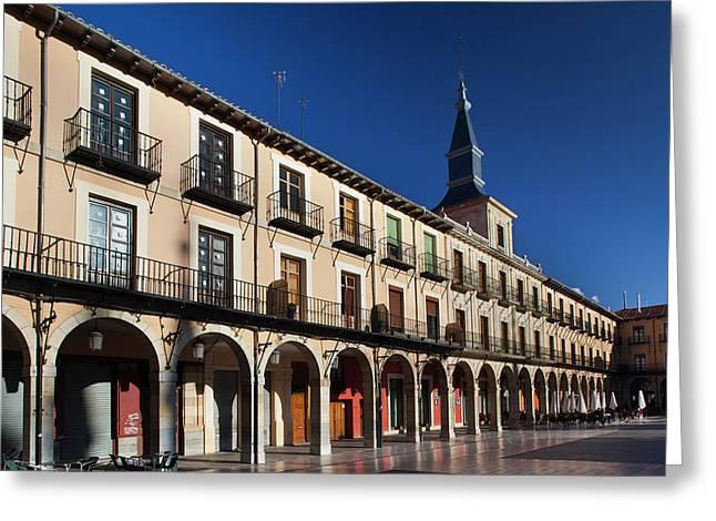 Spain, Castilla Y Leon Region, Leon Greeting Card by Walter Bibikow