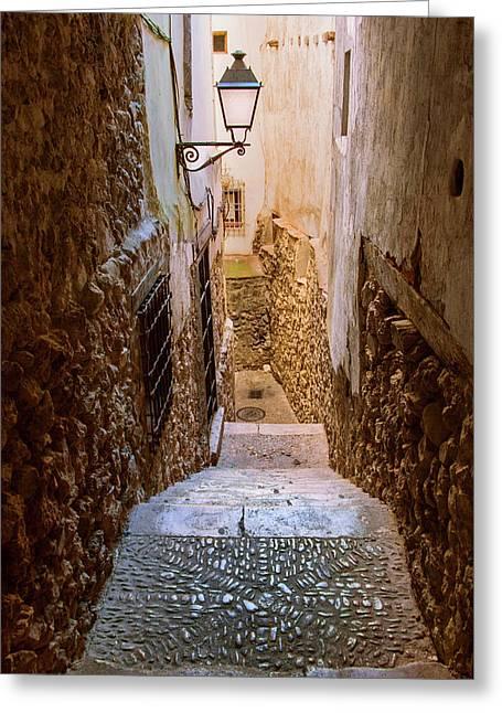Spain, Cuenca Alley Greeting Card