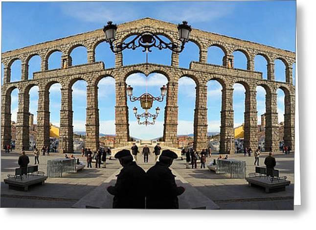 Spain Double Vision #200 Greeting Card by Evan Peller