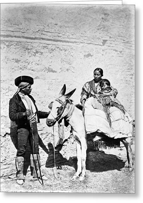 Spain Gypsies, C1860-80 Greeting Card