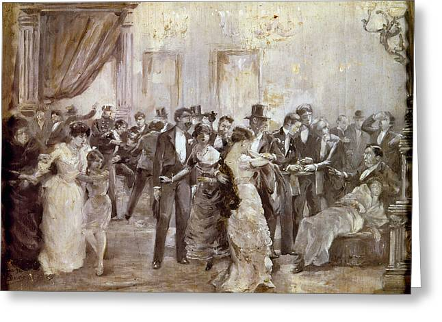 Spain Liceu Theater, 1893 Greeting Card