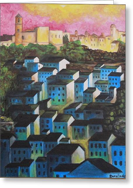 Little Town Of Spain Greeting Card
