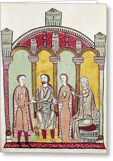 Spain Marriage, C1275 Greeting Card