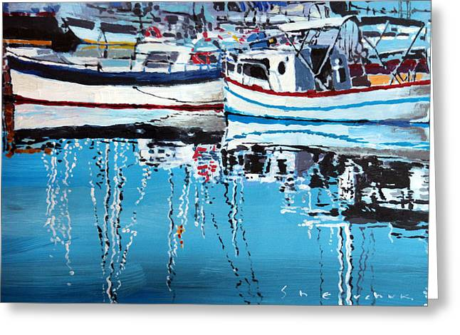 Spain Series 04 Cadaques Portlligat Greeting Card by Yuriy Shevchuk