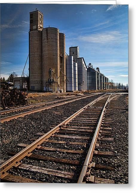 Spangle Grain Elevator Color Greeting Card