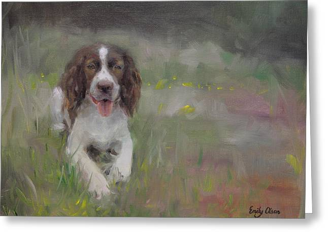 Spaniel At Rest Greeting Card