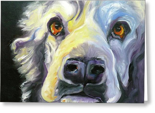 Spaniel In Thought Greeting Card