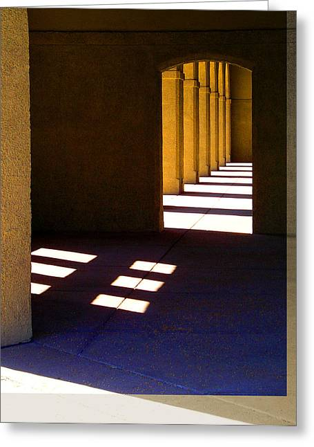 Spanish Arches Light Shadow Greeting Card