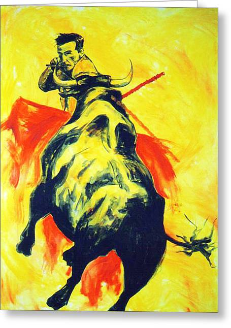 Spanish Bullfight Greeting Card