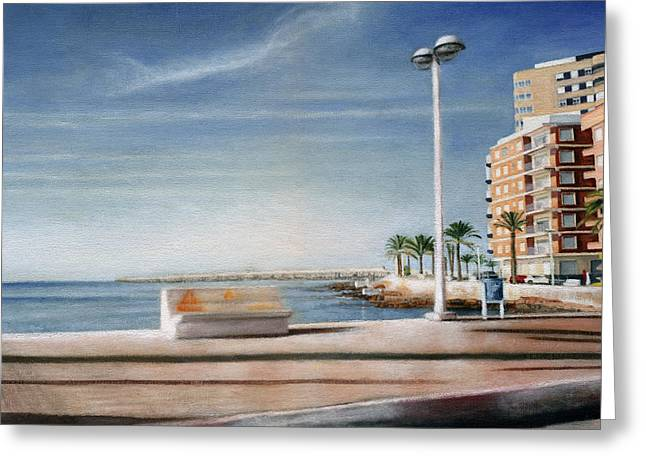 Spanish Coast Greeting Card