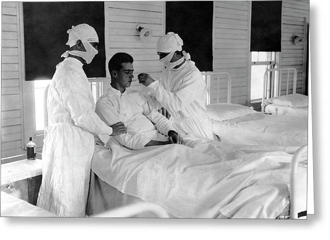 Spanish Flu Nursing Ward Greeting Card