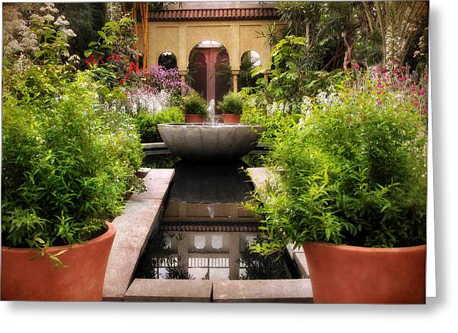 Spanish Gardens Greeting Card by Jessica Jenney