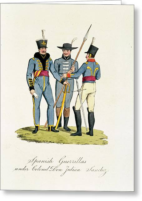 Spanish Guerrillas Greeting Card by British Library