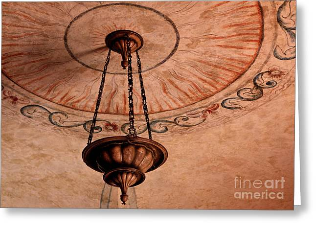 Greeting Card featuring the photograph Spanish Lamp by Lawrence Burry