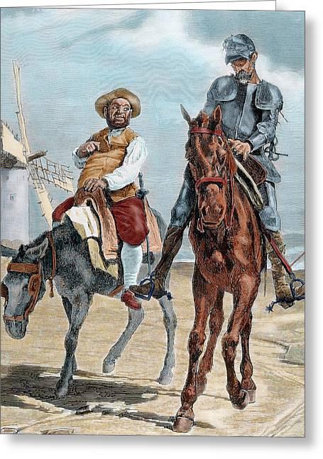 Spanish Literature Greeting Card by Prisma Archivo