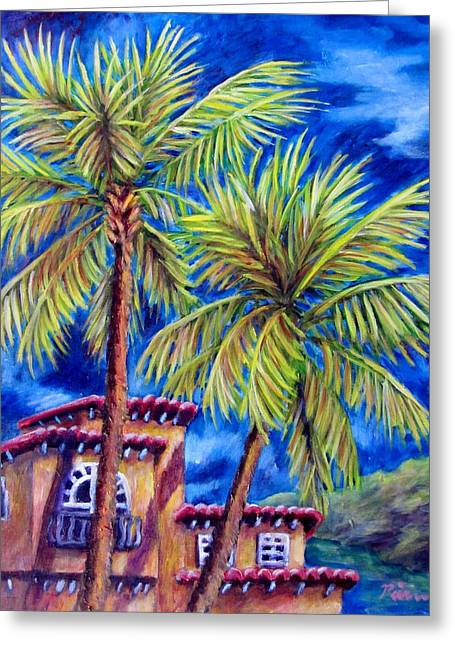 Spanish Palms Greeting Card