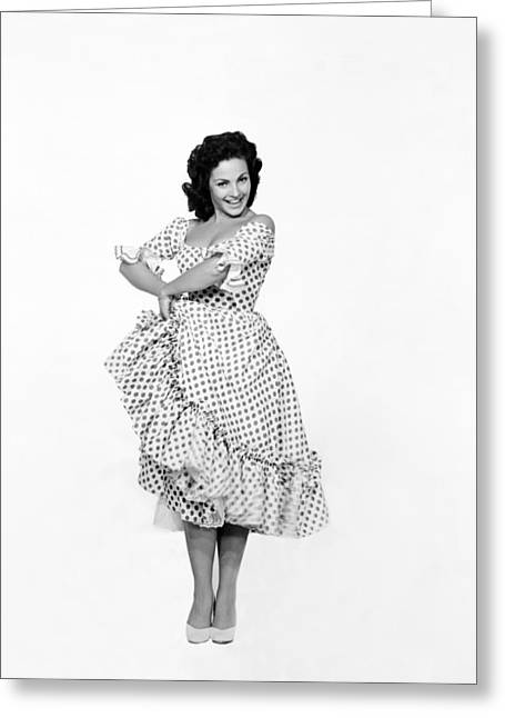 Spanish Star Carmen Sevilla. Greeting Card by Underwood Archives