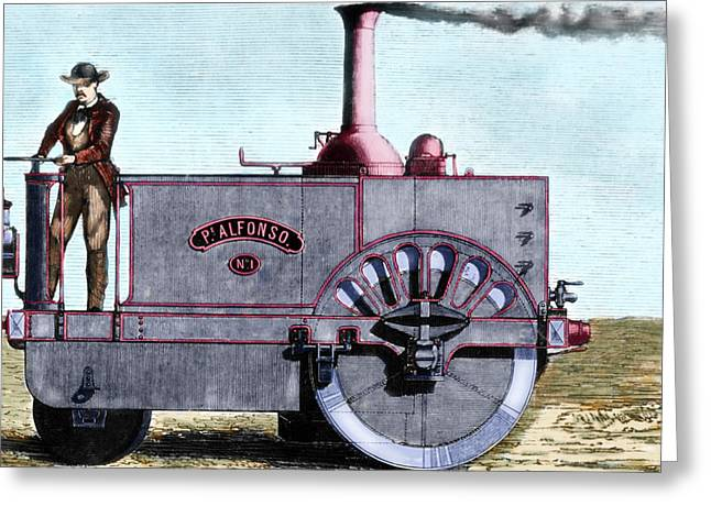 Spanish Traction Engine 'alfonso' Greeting Card