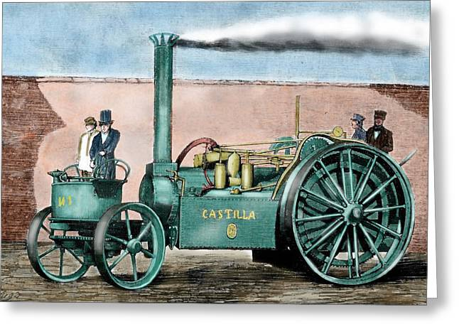Spanish Traction Engine 'castilla' Greeting Card by Prisma Archivo